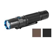 Olight M2R Pro Rechargeable LED Flashlight - Black and Desert Tan - 1800 Lumens - 21700 Battery and MCC3 Charger Included