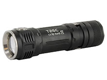Sunwayman T26C Ultra-Compact Side Switch Tactical Flashlight - CREE XM-L2 U3 LED - 800 Lumens - Uses 1 x 18650, 2 x CR123As/16340s - Champagne