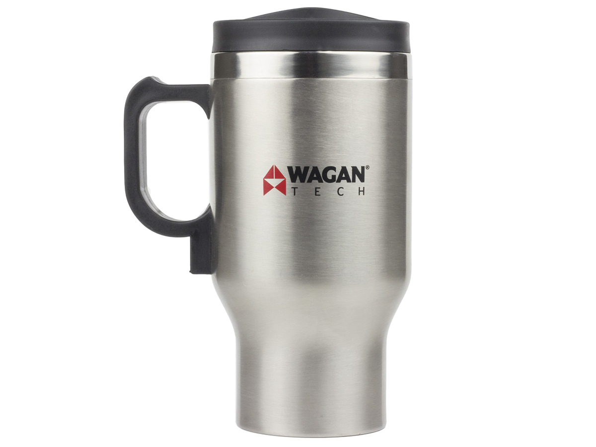 12V Double Wall Stainless Steel Travel Mug front view