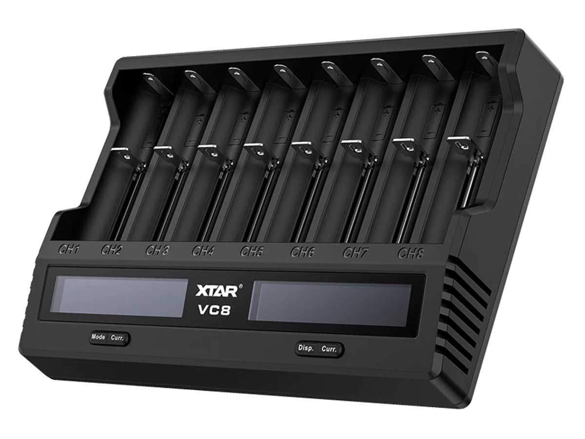 Xtar VC8 charger right side angle