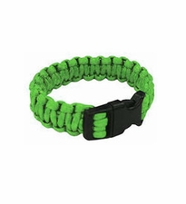 Ultimate Survival Technologies Survival Bracelet - 7-inch Wrist Band with Nylon Buckle - 8 Feet of Paracord - Lime (20-295B7-32)