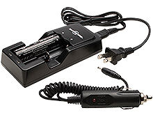 SureFire SF18650A-KIT Battery Charger Kit - Includes 1 x 3400mAh 3.7V 18650 and AC/DC Charging Cords