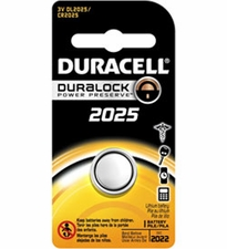 Duracell Duralock DL CR2025 150mAh 3V Lithium (LiMNO2) Watch/Electronic Coin Cell Battery - 1 Piece Retail Card