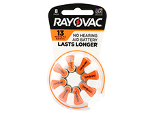 Rayovac 13-8 (8PK) Size 13 310mAh 1.45V Zinc Air Orange Hearing Aid Batteries - 8 Piece Retail Card