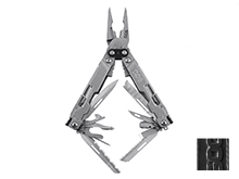 SOG PowerAccess Deluxe Multi-Tool - Stainless Steel - Stone Wash or Black Finish - Hex Bit Kit- 21 Total Tools - Peg Box