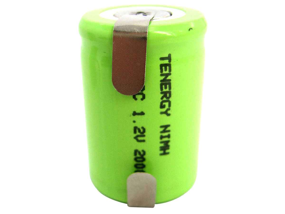 Tenergy 4/5 Sub C NiMH Battery With Tabs