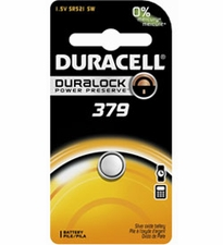 Duracell D379 1.5V Silver Oxide Watch/Electronic Button Cell Battery - 1pk (D379BPK)