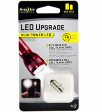 Nite Ize High-Power LED Upgrade Kit - 74 Lumens - Fits D and C Cell Flashlights (LRB2-07-PRHP)