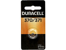 Duracell D370/371 1.55V Silver Oxide Watch/Electronic Button Cell Battery - 1pk (D370/371B)