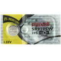Maxell SR927SW 395 57mAh 1.55V Silver Oxide Button Cell Battery - Hologram Packaging - 1 Piece Tear Strip, Sold Individually