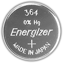 Energizer 363VZ SR621SW (1000PK) 20.5mAh 1.55V Silver Oxide (Zn/Ag20) Coin Cell Batteries - Case of 1000