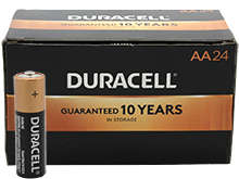 Duracell Coppertop Duralock MN1500 (24PK) AA 1.5V Alkaline Button Top Batteries (MN1500BKD) - Box of 24