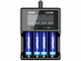 Xtar VC4S charger front view with batteries