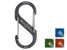 Nite Ize S-Biner #3 Carabiner - Blue, Charcoal, Lime Green, Orange