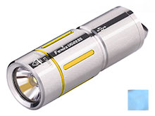 Fenix UC02SS USB Rechargeable Stainless Steel Keylight - CREE XP-G2 S2 LED - 130 Lumens - Includes 1 x 10180 - Blue