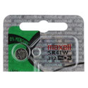Maxell SR41W 392 39mAh 1.55V Silver Oxide Button Cell Battery - Hologram Packaging - 1 Piece Tear Strip, Sold Individually