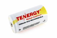 Tenergy 20500 D-cell 5000mAh 1.2V Nickel Cadmium (NiCd) Button Top Battery - Bulk
