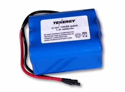 Tenergy 18650 6600mAh 7.4V Protected Lithium Ion (Li-ion) Bare Leads Battery - Bulk (31008)