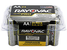 Rayovac Ultra Pro AL-AA-24 1.5V Alkaline Button Top Batteries - 24 Pack (ALAA-24PPJ)
