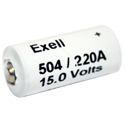 Exell A220 504A 15V Alkaline Industrial Battery for Yashica Cameras - Replaces Eveready 504, NEDA 220