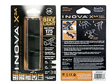Inova X3A Bike Light - 175 Lumens - Includes 3 x AAA (X3ATMA-HB-LRGT)
