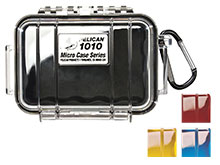 Pelican 1010 Watertight Case - Clear Cover - Available in 4 Colors