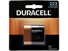Duracell Ultra DL 223 CR-P2 1400mAh 6V Lithium  (LiMNO2) Photo Battery (DL223ABPK) - 1 Piece Retail Card