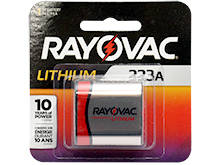 Rayovac Specialty RL 223A CR-P2 1400mAh 6V Lithium (LiMNO2) Photo Battery - 1 Piece Retail Card