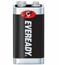 Energizer Eveready Super Heavy Duty 1222 9V 400mAh Zinc Carbon Battery with Snap Connector - Bulk