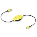 ReTrak Retractable iPhone 5/6 iPad Lightning Charge and Sync Cable - Yellow