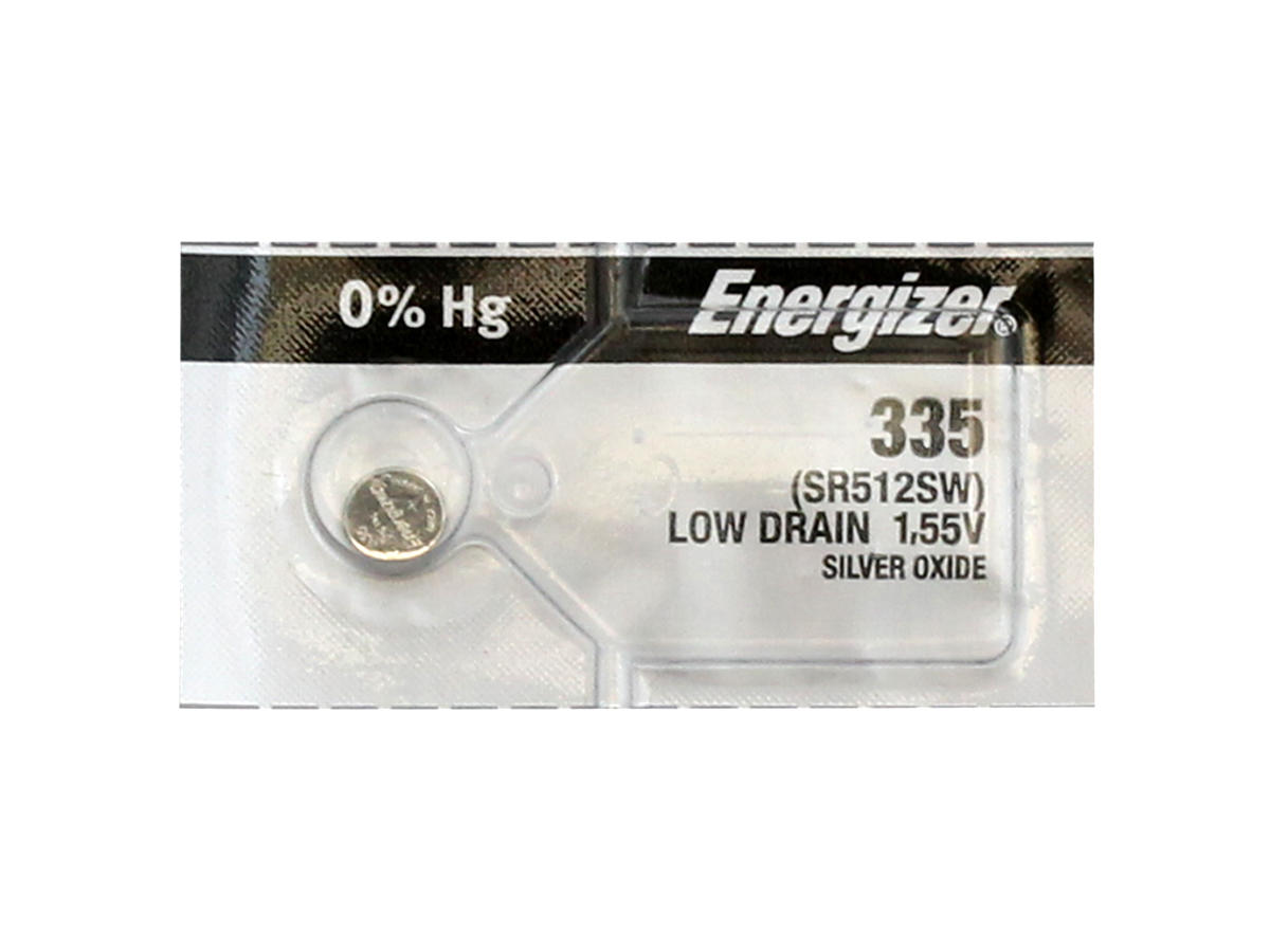 Energizer 335 coin cell in tear strip packaging