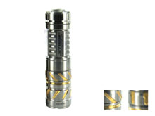 JETBeam TCR21 Ti Limited Edition Titanium Flashlight - CREE XP-L LED - 500 Lumens - Uses 1 x 16340, 1 x CR123A or 1 x AA - Striped