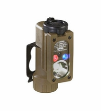 Streamlight Sidewinder Compact Hands-Free Flashlight - Military Model: White C4, Red, Blue, IR LEDs - 55 Lumens - Includes 1 x CR123A and Helmet Mount  (14101)