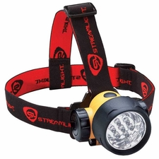 Streamlight Septor Headlamp with Optional Rubber Hard Hat Strap - 7 x 5mm White LEDs - 120 Lumens - Includes 3 x AAAs (61052)