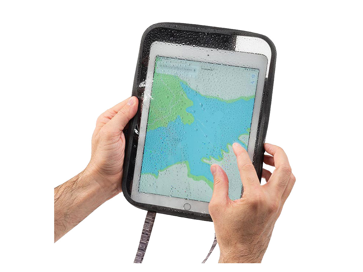tablet case with tablet being used