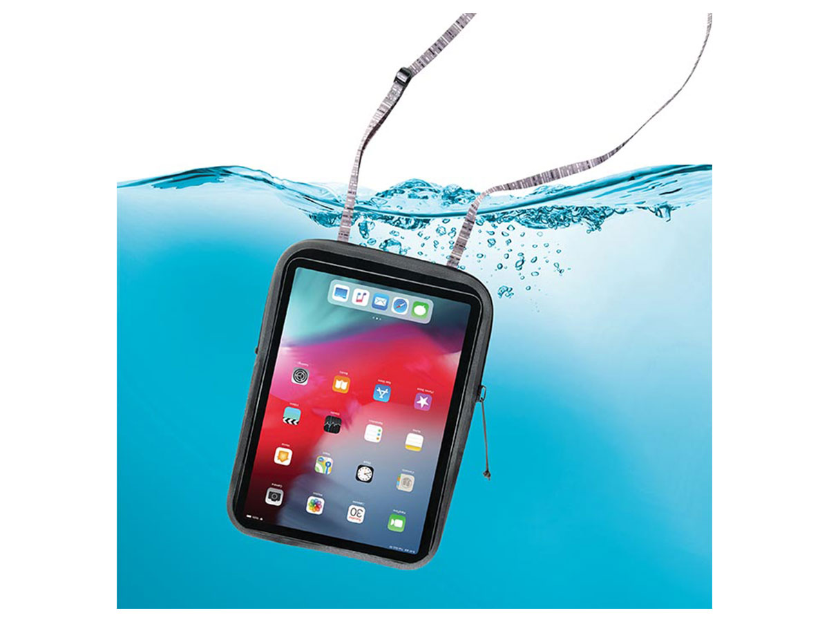 tablet case being submersed under water