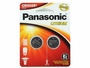 Panasonic CR2025 165mAh 3V Lithium (LiMnO2) Coin Cell Battery - 2 Piece Standard Size Carded Packaging