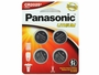 Panasonic CR2025 165mAh 3V Lithium (LiMnO2) Coin Cell Battery - 4 Piece Standard Size Carded Packaging