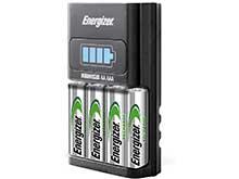 Energizer AA and AAA 4 Bay 1 Hour NiMH Battery Charger - Includes 4 x AA NiMH Batteries (CH1HRWB-4)