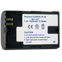 Empire BLI-357 1800mAh 7.2V Replacement Lithium Ion (Li-ion) Camera Battery for Canon LP-E6
