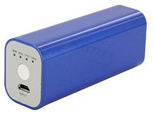 Tenergy 5V 2600mAh Mini Power Bank Charger with USB Cable - Blue