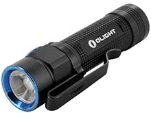 Olight S1A Baton Flashlight with Magnetic Tailcap - CREE XM-L2 LED - Uses 1 x 14500 or 1 x AA