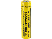 Nitecore NL1834 18650 3400mAh 3.7V Protected Lithium Ion (Li-ion) Button Top Battery - Blister Pack