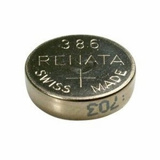 Renata 386 MP 45mAh 1.55V Silver Oxide Coin Cell Battery - 1 Piece Tear Strip, Sold Individually