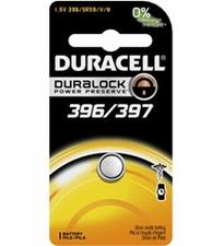 Duracell D396/397 1.5V Silver Oxide Watch/Electronic Button Cell Battery - 1pk (D396/397B)