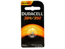 Duracell D384/392 1.5V Silver Oxide Watch/Electronic Button Cell Battery - 1pk (D384/392B)