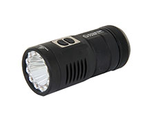 Sunwayman F30R Tri-Color Flashlight with Diffuser - CREE XM-L2 LED - Red, Blue and White LEDs -  880 Lumens - Uses 3 x CR123As or 3 x 16340s