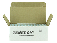 Tenergy 10400 AAA (60PK) 1000mAh 1.2V Nickel Metal Hydride (NiMH) Button Top Batteries - 60-Pack