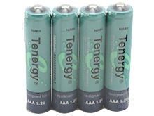 Tenergy 10400 AAA (4PK) 1000mAh 1.2V Nickel Metal Hydride (NiMH) Button Top Battery - Pack of 4