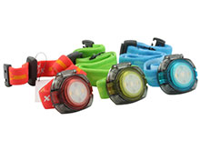 Fenix HL05 Lightweight Headlamp - Red and White LEDs - 8 Lumens - Includes 2 x CR2032s - Orange/Red